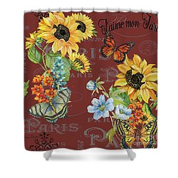 Shower Curtain featuring the painting Jaime Mon Jardin-jp3988 by Jean Plout