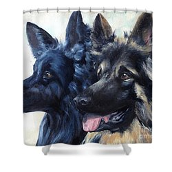 Jake And Shiloh Shower Curtain