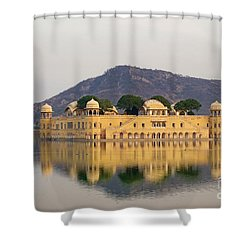 Shower Curtain featuring the photograph Jal Mahal  by Yew Kwang