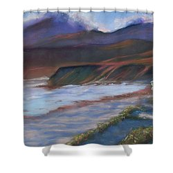 Jalama Beach At Sunset Shower Curtain by Laurie Paci