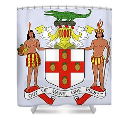Jamaica Coat Of Arms Shower Curtain by Movie Poster Prints