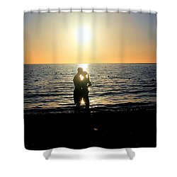 Jamaican Sunset Kiss By Steve Ellenburg Shower Curtain by Steve Ellenburg