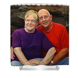James And Judy Ballard Shower Curtain by Glenn Beasley