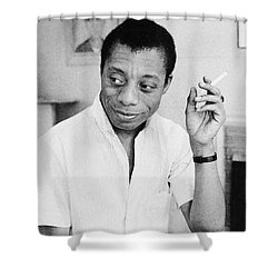 James Baldwin Shower Curtain