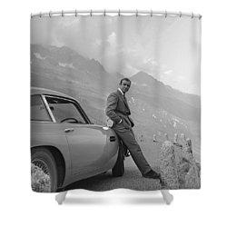 James Bond And His Aston Martin Shower Curtain