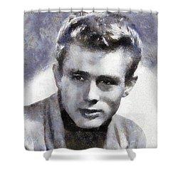 James Dean By Sarah Kirk Shower Curtain