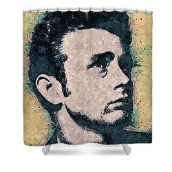 James Dean Portrait Shower Curtain