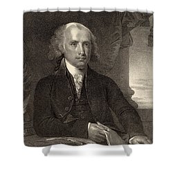 James Madison - Fourth President Of The United States Of America Shower Curtain by International  Images