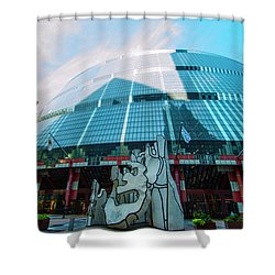 James R. Thompson Center Chicago Shower Curtain