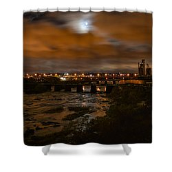 James River At Night Shower Curtain
