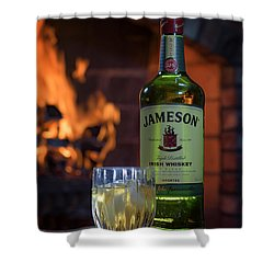 Jameson By The Fire Shower Curtain by Rick Berk