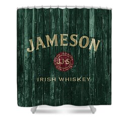 Jameson Irish Whiskey Barn Door Shower Curtain