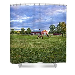Jamesport Saddle Club Shower Curtain