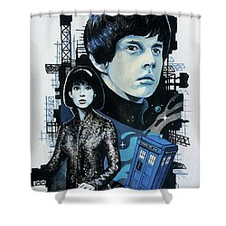 Jamie And Zoe Shower Curtain by Tom Carlton