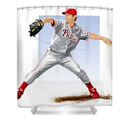 Jamie Moyer Shower Curtain