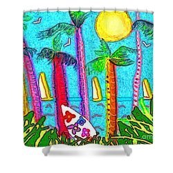 Jammin Shower Curtain by Holly Martinson