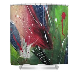 Shower Curtain featuring the pastel Jammin by Sharyn Winters