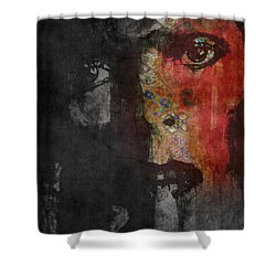 Shower Curtain featuring the painting Jamming Good With Wierd And Gilly by Paul Lovering