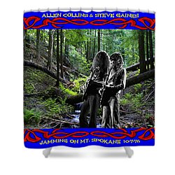 Shower Curtain featuring the photograph Jamming On Mt. Spokane 1 by Ben Upham