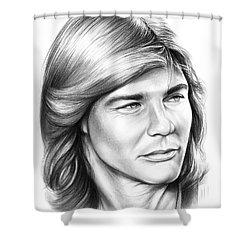 Jan Michael Vincent Shower Curtain by Greg Joens