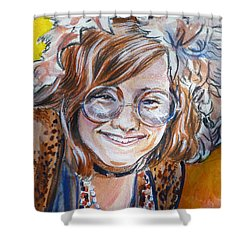 Janis Joplin Shower Curtain by Bryan Bustard