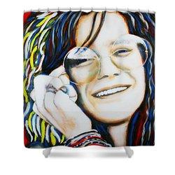 Janis Joplin Pop Art Portrait Shower Curtain