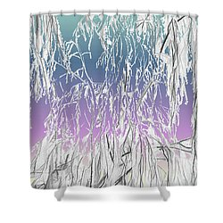 January Hoarfrost Shower Curtain