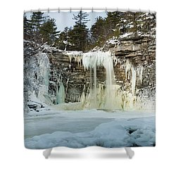 January Morning At Awosting Falls Shower Curtain