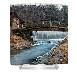 January Morning At Gomez Mill #1 Shower Curtain by Jeff Severson
