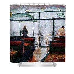 January, Morning Break Shower Curtain