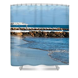 January Morning West Dennis Beach Shower Curtain by Michelle Wiarda