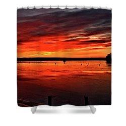 January Sunrise Onset Pier Shower Curtain