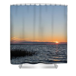 Shower Curtain featuring the photograph January Sunset by Gregg Southard