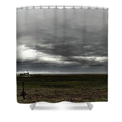 January Surprise Shower Curtain by Laura Ragland