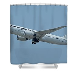 Japan Airlines Boeing 787-8 Ja835j Los Angeles International Airport May 3 2016 Shower Curtain by Brian Lockett