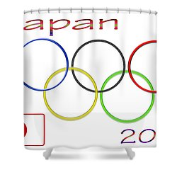 Japan Olympics 2020 Logo 3 Of 3 Shower Curtain