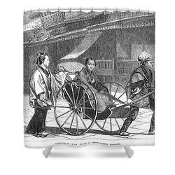 Japan: Rickshaw, 1874 Shower Curtain by Granger