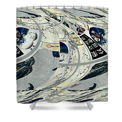 Japanese Bold Abstract Shower Curtain