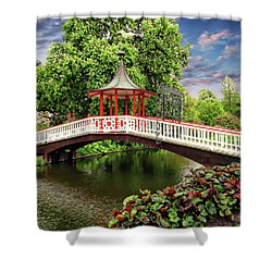 Japanese Bridge Garden Shower Curtain