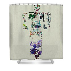 Japanese Dance Shower Curtain by Naxart Studio