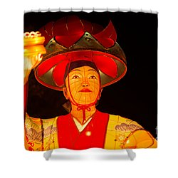 Japanese Dancer Lantern 2 Shower Curtain