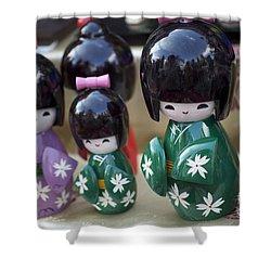 Japanese Dolls Shower Curtain