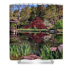 Japanese Garden At Maymont Shower Curtain by Rick Berk