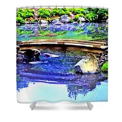 Japanese Garden Shower Curtain by Bill Cannon