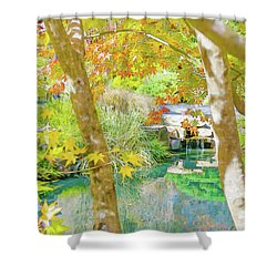 Japanese Garden Pond Shower Curtain