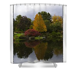 Japanese Garden Shower Curtain by R Thomas Berner