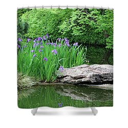 Japanese Gardens - Spring 02 Shower Curtain by Pamela Critchlow