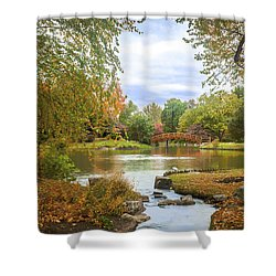 Shower Curtain featuring the photograph Japanese Garden View by David Coblitz