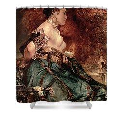 Japanese Girl Shower Curtain by Hans Makart