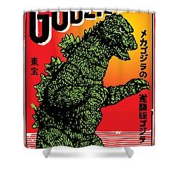 Japanese Godzilla  Shower Curtain
